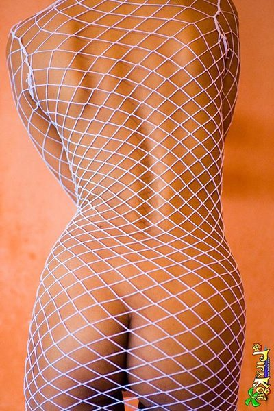 Slave Thai infant Lily Koh unclothed in untamed white netting