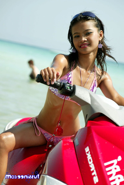 Oriental juvenile sample at the beach location on a jet ski