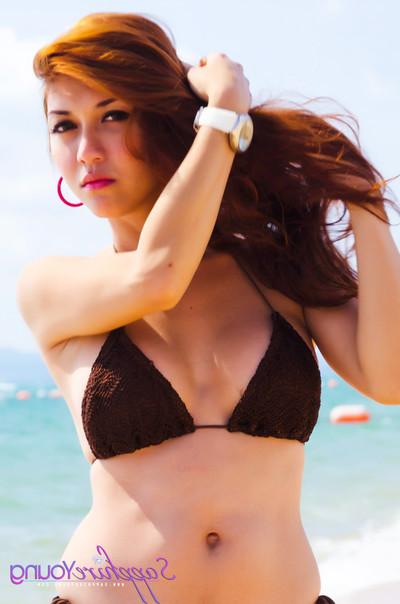 Chinese lady-boy in bikini