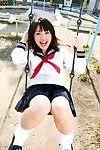 Jun Ishizaki Oriental is wild and energetic in sailor chicito uniform