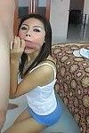 Thai adolescent bopper pim taking in a load of jism