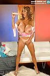1 oriental megaboobed superheroine tries on extra quantity tittytops and leav