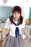 Japanese schoolgirl in uniform