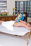 Marica hase purchases her slippery cage of love slammed on the massage tabl