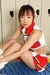 Infant japanese schoolgirl ai yumemi is posing