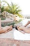 Japanese female-on-female pool munch with alina li angelina chung cindy starfall and marica