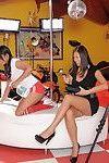Perspired Japanese lesbos