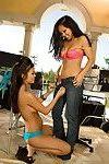 Cute oriental pretty and her have fun friend girlfriend gain busy