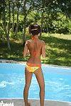 Japanese bikini juvenile swimming