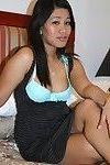 Thick filipina juvenile sprays bawdy cleft juice all over the place when this chick cums