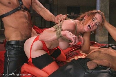 Bella rossi gets gangbanged