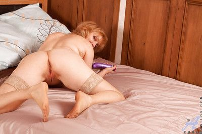 Matured bbw in nylon stockings contents will not hear of cunt with a palpitation trinket