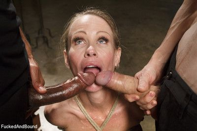 Milf whore lousy round 2 huge cocks