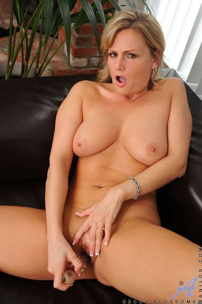 Hot milf Becca Blossoms spreads say no to pussy while inserting say no to favorite knick-knack out of reach of a catch embed