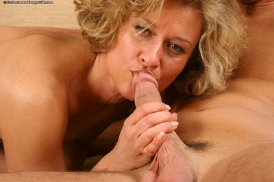 Mature blonde old lady Bianca enjoys hardcore gender and facializing