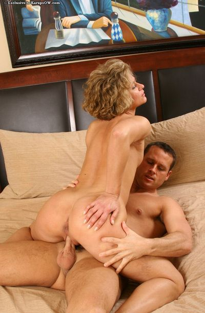 Mature blonde old lady Bianca enjoys hardcore gender and facializing