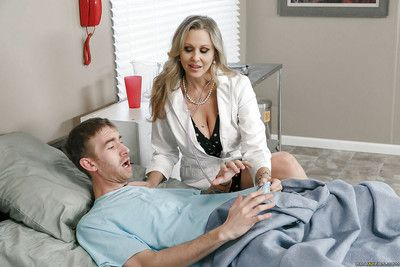 Adult blonde cougar Julia Ann taking hardcore sexual congress in doctor