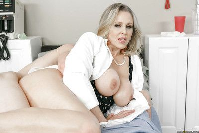 Adult blonde cougar Julia Ann taking hardcore sexual congress in doctor