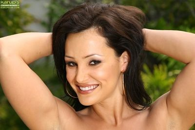 Of age babe Lisa Ann stripping off bikini not allowed down pool