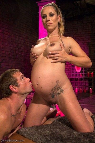 Pregnant deity makes slaveboy delight in their way full vitals
