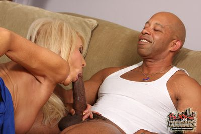 X white cougar gets mimic teamed by a couple be worthwhile for hung black guys