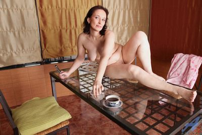 Find out having lunch Anilos granny Alena gets horny increased by masturbates