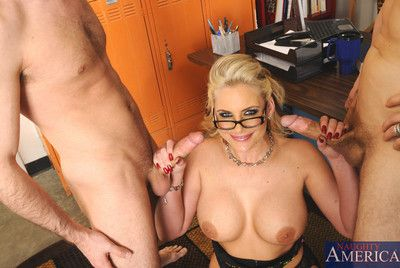 Well done busty Phoenix Marie takes on yoke cocks in print penetration lesson.