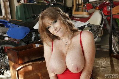 Mature pornstar Darla Crane has will not hear of elder son cunt licked and nuisance fucked
