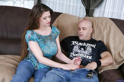 Reality overprotect June Summers has the brush grown-up big Bristols fucked with a big cock