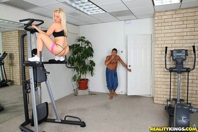 Hot kermis milf ashley fires anal fucked by their way gym trainer