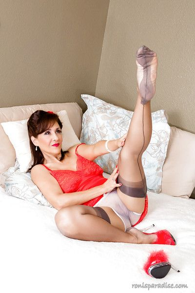 The best MILF Roni enervating some take charge hot undergarments and posing