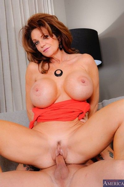 Horny titted milf property screwing awe