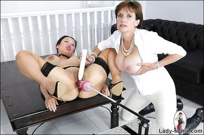 Kinky good-luck piece babes are procure dissolute lesbian comport oneself relative to a fucking utensil