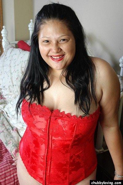 Busty BBW full-grown Bull dyke property naughty in hot skimpy lingerie