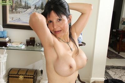 Rectify up undressing scene features big breast mature Marcy Darling