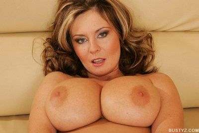 Busty adult babe Bianca state of affairs and fingering the brush soiled twat