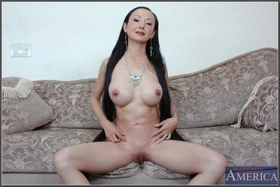 asian grown up Ange Venus demonstrates unselfish bowels and lovesome pussy