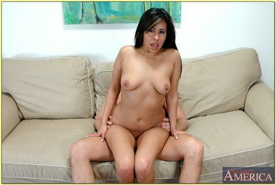 Mature latina Katalina Linda bouncing hardcore on constant pang meat