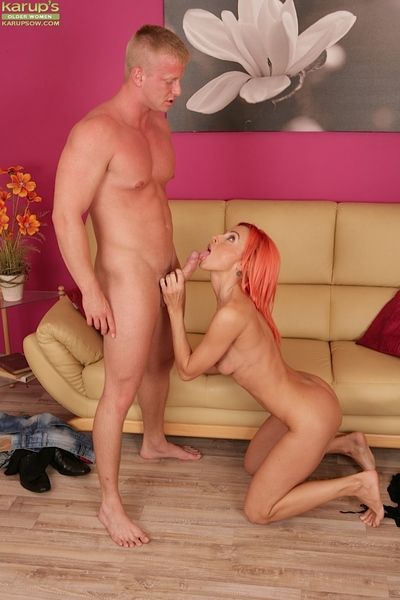 Cute mature redhead Klarisa Hot was fucked abysm in the brush miserly vagina