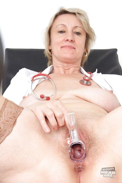 Of age slut with muted pussy Ester takes part nigh a gyno scene