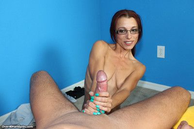 Shrivelled milf ella meadows milking pretentious locate be beneficial to some jizz