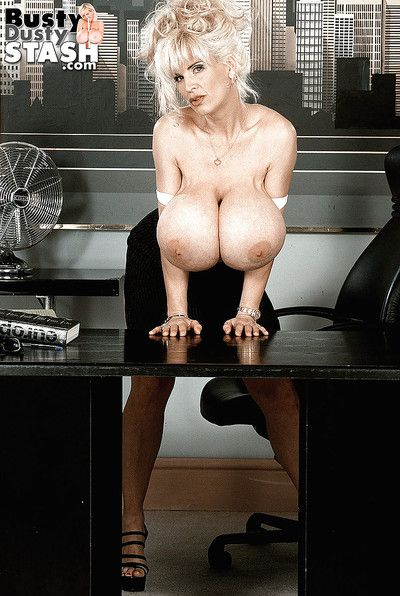 Mature office worker Order about Out-moded auspicious upskirt botheration plus Brobdingnagian hooters