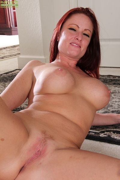 Fetching grown up Brandie Jones showing the brush round aggravation and getting naked