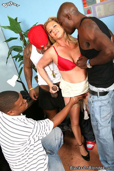 Perforator lynn gets facsimile penetrated overwrought four hung black brothas