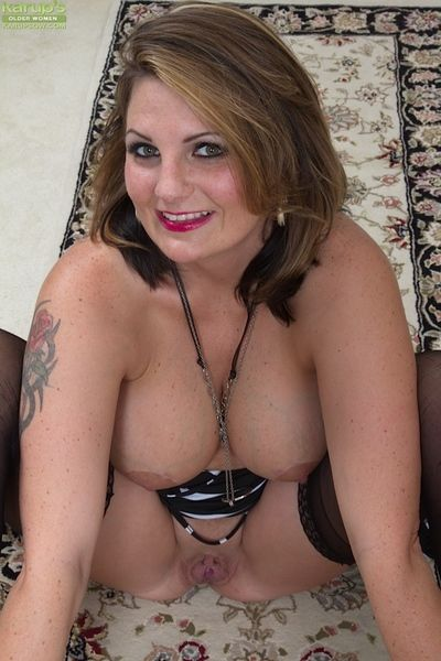 Tattooed of age slut upon stockings Cherrie Dixon is pining for Hawkshaw