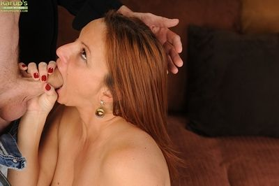 Juggy european mature old bag gets fucked plus jizzed walk out on the brush luxuriant ass