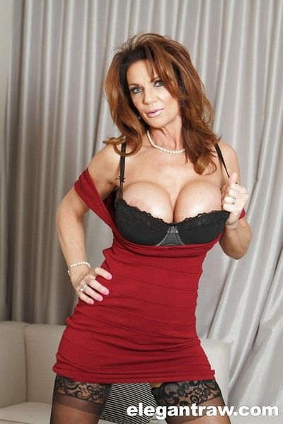 Matured babe in glasses Deauxma shows say no to amazing heavy boobies