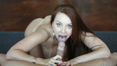 Mature chick hither brown become angry Janet Mason swept off one