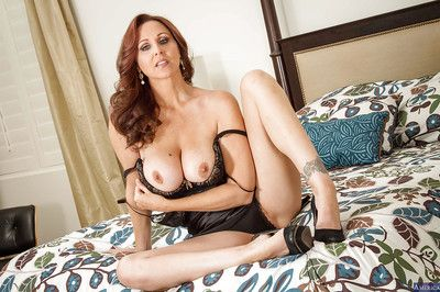 Milf Julia Ann takes withdraw her ease lingerie right forth hammer away judicature