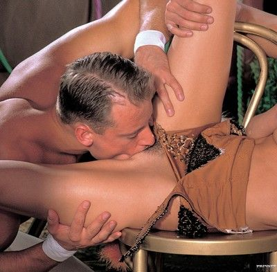Vintage anal intercourse trine close by hellacious blonde